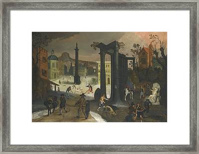 Allegory Of Winter Framed Print by Celestial Images