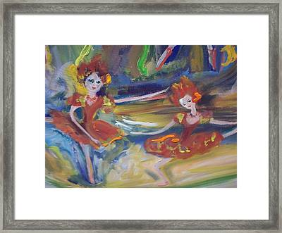 Allegro And Andante Framed Print by Judith Desrosiers