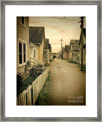 Alley And Abandoned Houses Framed Print by Jill Battaglia