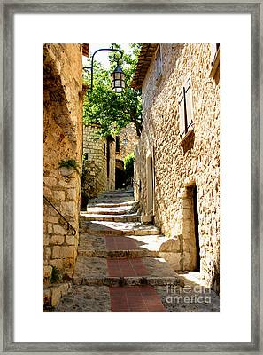 Alley In Eze, France Framed Print by Holly C. Freeman