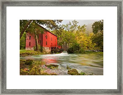 Alley Spring Mill - Eminence Missouri Framed Print by Gregory Ballos