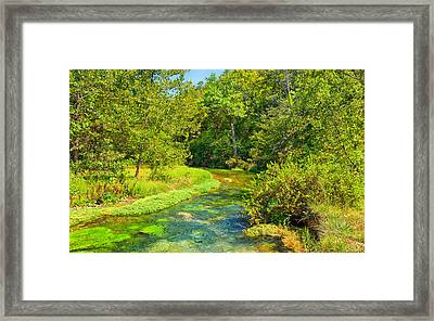 Alley Springs Journey Of Enchantment Framed Print by John M Bailey