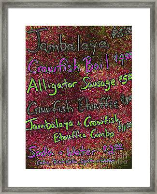 Alligator Sausage For Two Dollars 20130610p68 Framed Print by Wingsdomain Art and Photography
