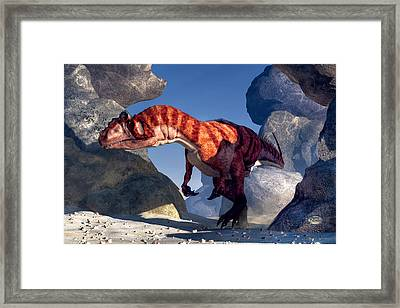 Allosaurus Framed Print by Daniel Eskridge