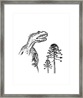 Allosaurus Framed Print by Richard Bizley