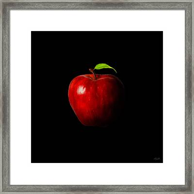 Alluring Red Framed Print by Lourry Legarde