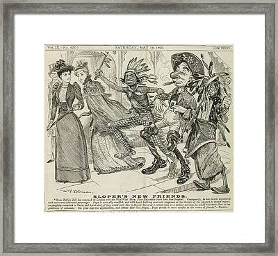 Ally Sloper's New Friends Framed Print by British Library