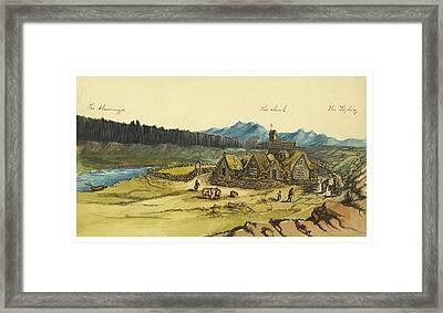 Almanna Gorge Circa 1862 Framed Print by Aged Pixel