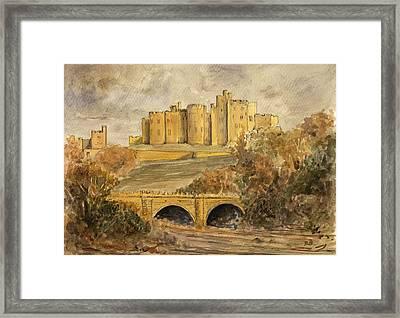 Alnwick Castle Framed Print by Juan  Bosco