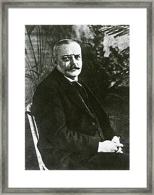 Alois Alzheimer Framed Print by National Library Of Medicine