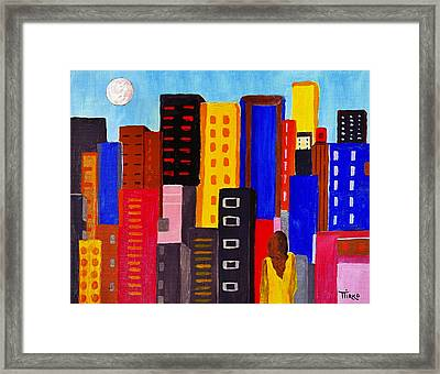 Alone Among All - City 05 Framed Print by Mirko Gallery