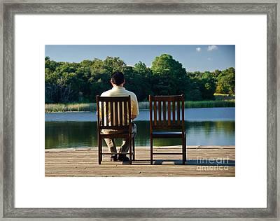 Alone Framed Print by Charles Dobbs