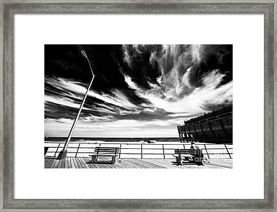 Alone In Asbury Park Framed Print by John Rizzuto