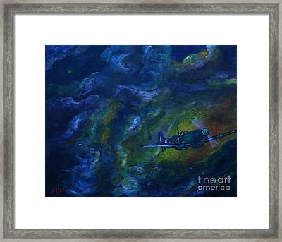 Alone In The Clouds Framed Print by William Bezik