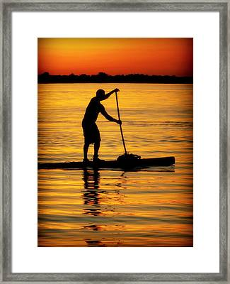 Alone With The Sun Framed Print by Karen Wiles