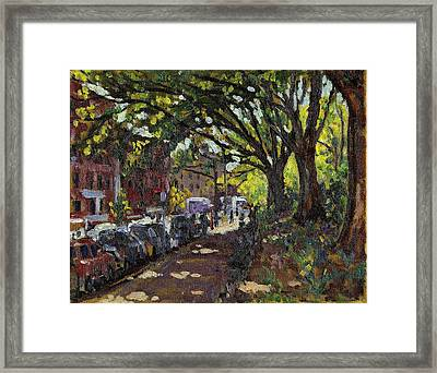 Along Broadway In Inwood New York City Framed Print by Thor Wickstrom