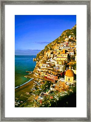 Along The Amalfi Coast Framed Print by Cliff Wassmann