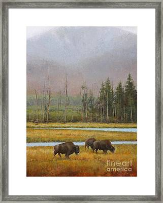 Along The Madison Framed Print by Lori  McNee
