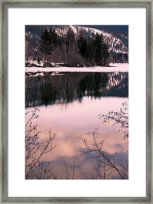 Along The North Thompson Framed Print by Kathy Bassett