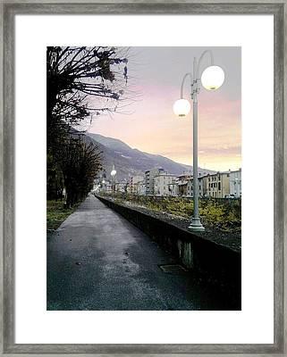 Along The Stream Morning First Light Framed Print by Giuseppe Epifani