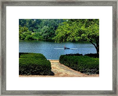 Along The Schuylkill Framed Print by Skip Willits