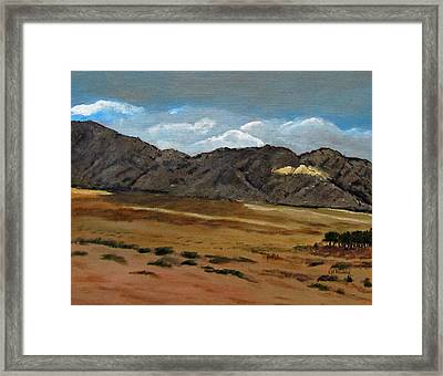 Along The Way To Eilat Framed Print by Linda Feinberg