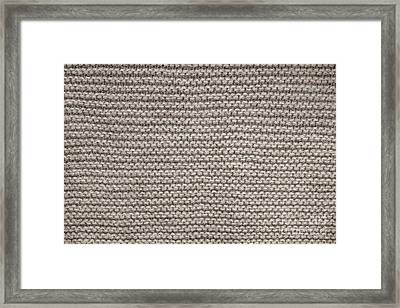 Alpaca Wool Knit Texture Framed Print by Elena Elisseeva