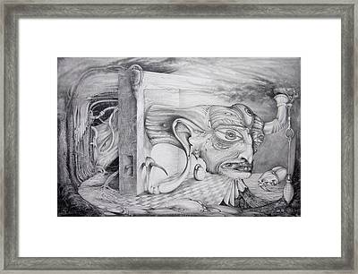 Alpha And Omega - The Reconstruction Of Bogomils Universe Framed Print by Otto Rapp