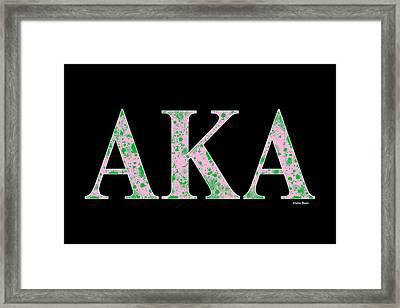 Alpha Kappa Alpha - Black Framed Print by Stephen Younts