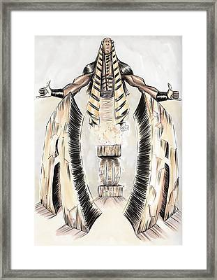 Alpha Pharaoh  Framed Print by Tu-Kwon Thomas