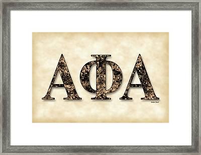 Alpha Phi Alpha - Parchment Framed Print by Stephen Younts