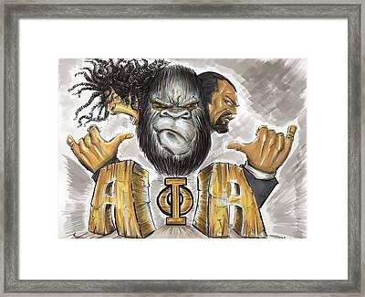 Alpha Phi Alpha Fraternity Inc Framed Print by Tu-Kwon Thomas
