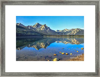 Alpine Lake Reflections Framed Print by Robert Bales