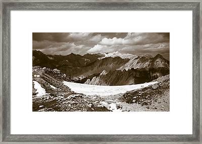 Alpine Landscape Framed Print by Frank Tschakert