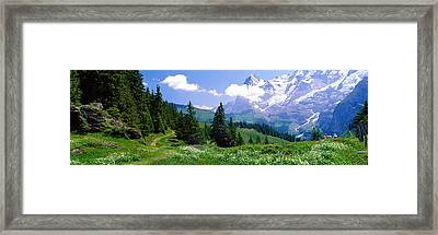 Alpine Scene Near Murren Switzerland Framed Print by Panoramic Images
