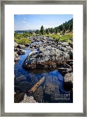Alpine Stream Beartooth Mounain Range Framed Print by Edward Fielding