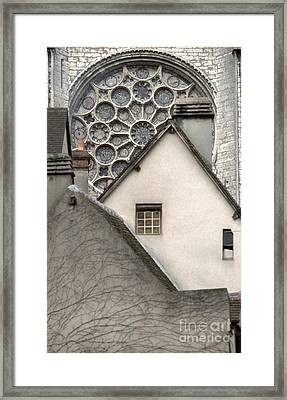 Also Chartres Framed Print by Carol Weitz