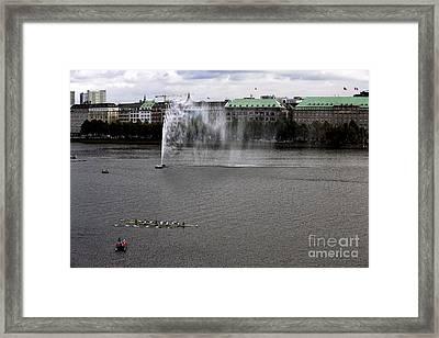 Alster Lake Day In Hamburg Framed Print by John Rizzuto