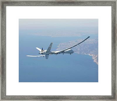 Altair Unmanned Aerial Vehicle Framed Print by Nasa/carla Thomas