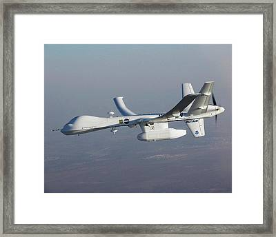Altair Unmanned Aerial Vehicle Framed Print by Nasa/general Atomics Aeronautical Systems