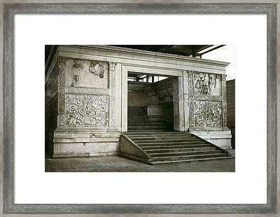 Altar Of Peace Of Augustus. 13 Bc Framed Print by Everett