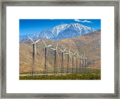 Alternative Power Wind Turbines Framed Print by Susan Schmitz
