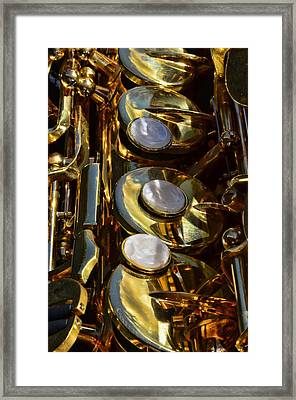 Alto Sax Reflections Framed Print by Ken Smith