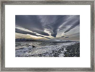 Altocumulous Standing Lenticular Clouds Framed Print by Darryl Luscombe
