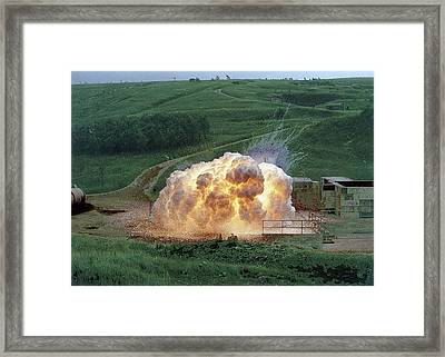 Aluminium Powder Explosion Framed Print by Crown Copyright/health & Safety Laboratory Science Photo Library