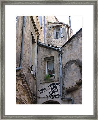 Always A Surprize In Small French Towns Framed Print by Penelope Aiello