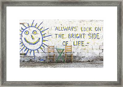 Always Look On The Bright Side Of Life Framed Print by Tom Gowanlock