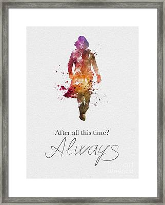 Always Black And White Framed Print by Rebecca Jenkins