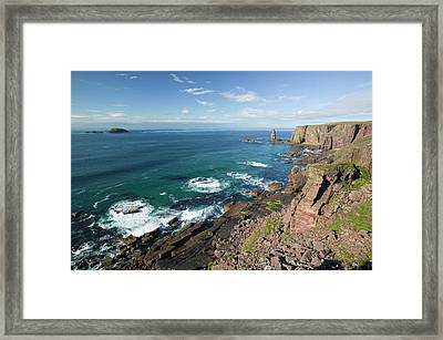 Am Buachaille Sea Stack Framed Print by Ashley Cooper