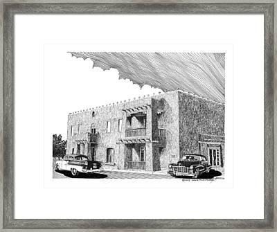 Amador Hotel In Las Cruces N M Framed Print by Jack Pumphrey